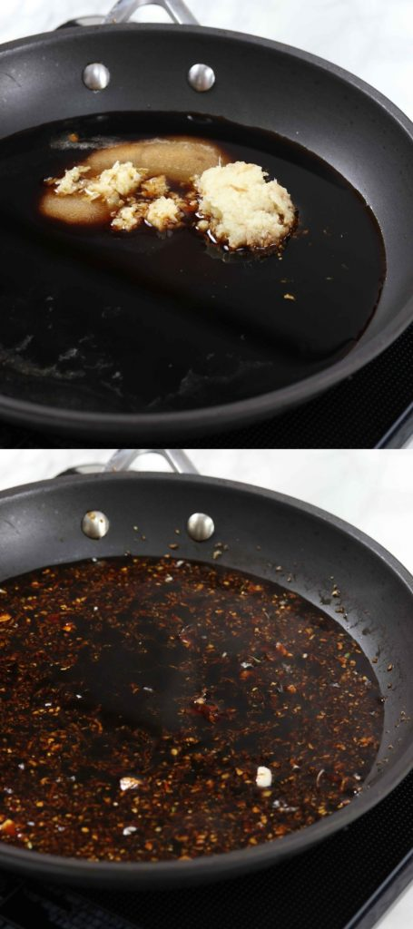 How to make homemade teriyaki sauce in a frying pan without sugar.