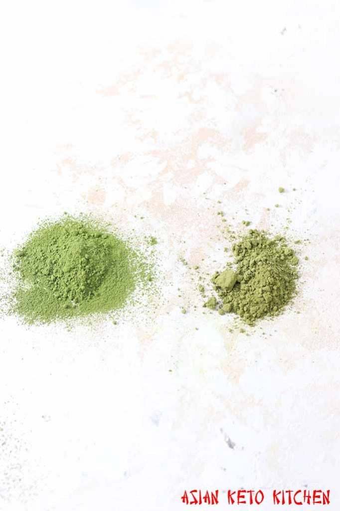 Matcha green tea powder vs green tea powder.