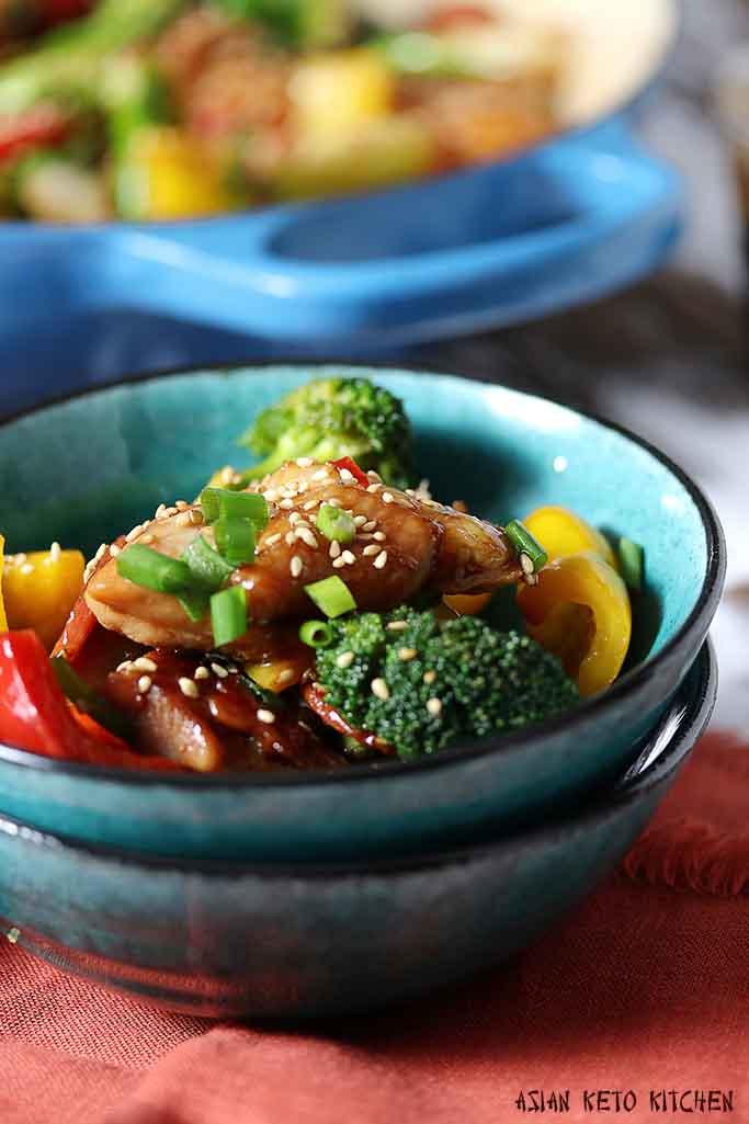 Low Carb Keto Japanese Teriyaki Chicken Recipe Asian Keto Kitchen