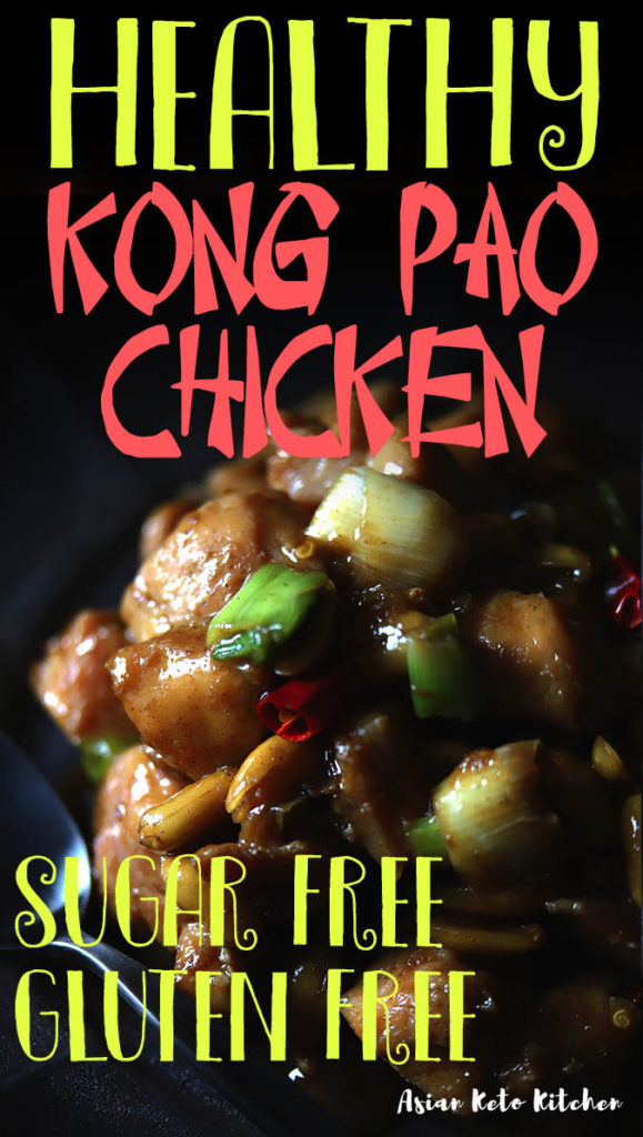 This healthy kong pao chicken recipe is so easy to make. You can make it on the stove top, crock pot, or in an instant pot. You'll love make this authentic gong bao chicken recipe with authentic ingredients! #kungpao #kunchpaochicken #chinesechicken #ketochickenrecipes #asianketokitchen